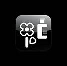 Vector illustration of single isolated flower bottle icon
