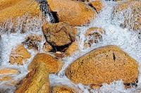 Wasser um die Steinen herum, Water around the stones,