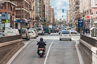 traffic in the city, Valencia, Spain
