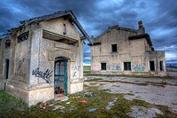 Abandoned train station, Fontioso, Burgos, Spain