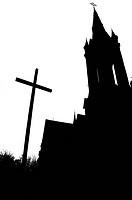 silhouette of the Catholic Church