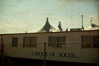 camping trailer and tent of cirque du soleil