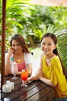 Women having drinks together