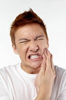 Man having toothache