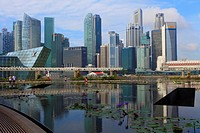 Singapore, Central Business District, skyline, Louis Vuitton Store,