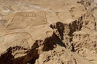Lake, sea, salty, fortress, Masada, stone desert, Israel, Middle East, Near East, ruins, gulch