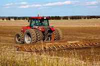 Tractor cultivated field