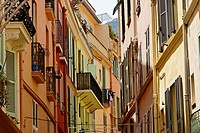 Monaco, picturesque oldtown alley