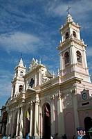 Iglesia Catedral, the main cathedral on 9 julio Square, Salta City, Argentina, South America