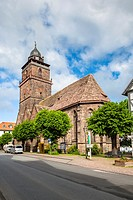 Picturesque parish church in Grebenstein, Hesse, Germany, Europe