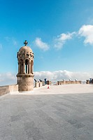 View near cathedral in Barcelona Spain