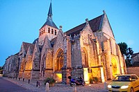 France, Paris region, Seine et Marne, Provins medieval city, Sainte Croix church