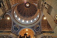 St. Peter's Basilica interior, St. Peter's Square, Vatican City