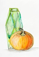 gentle still life composition for halloween