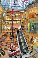 Prague, Czech Republic. Palladium shopping centre, Namesti Republiky