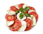 Tomato and mozzarella cheese