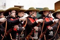 Italy, Trentino Alto Adige, Merano, traditional Schutzen parade