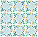 Seamless colourfull owl pattern for kids