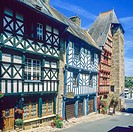 Half-timbered houses 16th Century 'Treguier' Brittany France