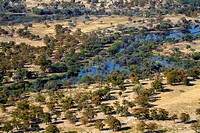 Aerial View of Maun, Botswana.