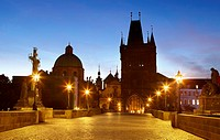 Prague - Old Town, Bridge Tower and Charles Bridge, Prague, Unesco, Czech Republic, Europe