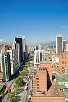 Panoramic of the City Medellin, Antioquia, Colombia