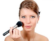 The young beautiful girl with a natural make-up