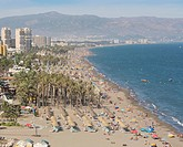 Torremolinos, Costa del Sol, Spain. Beach.