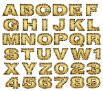 golden alphabet set