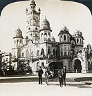 INDIA: LAXMI VILAS PALACE. 'Luxmivilas Palace, magnificent residence of the Prince of Baroda, India.' Stereograph, c1907.
