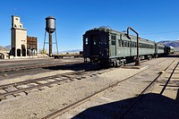 historic train at Nevada Northern Railway Museum, Ely, Nevada, USA, North America.