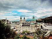 Historical landmark in quaint town, Salzburg, Austria