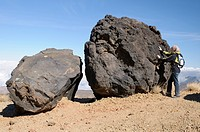 Solidified lava formation called The Eggs of Mount Teide, Teide National Park, Tenerife, Canary Islands, Spain, Europe