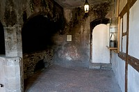 Medieval castle kitchen, Ranis Castle, Ranis, Thuringia, Germany, Europe