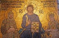 Mosaic at Hagia Sophia, Istanbul, Turkey