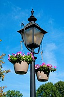 Lamp with flowers, Northwest Park, Windsor, Connecticut