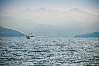 Ferry Crossing Lake Como, Italy