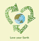 illustration of loving the earth