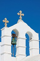 Orthodox bell tower in Santorini