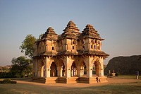 India , Karnataka State, Hampi City ,ruins of Vijayanagar City XV century , (W.H.), Lotus Mahal