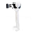 3d man cameraman with video camera
