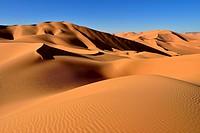 North Africa, Algeria, View of sand dunes at Erg Mehejibad