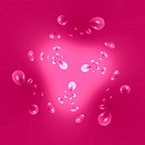 pink background and air bubbles