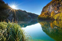 Croatia - morning landscape of Plitvice Lakes National Park, Plitvice, central Croatia
