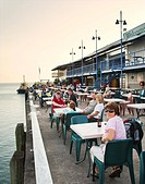 Australia, Northern Territory, Darwin, open air seafood at Stokes Hill Wharf