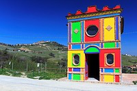 The Sol LeWitt and David Tremlett Chapel. La Morra, Piedmont, Italy