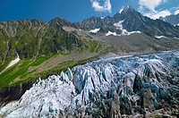 Argentiere Glacier. Chamonix valley. French Alps