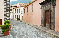 Calle los Alfombristas street La Orotava town Tenerife the Canary Islands Spain Europe