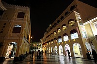Senado Square Night view, Macau, hong kong, china, asia
