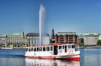 Lake Alster in Hamburg, Germany, Europe